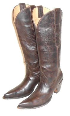 Old Gringo Yippe Kiyay Distressed Brown Leather Point Toe Western Boot 6.5 B #OldGringo #CowboyWestern