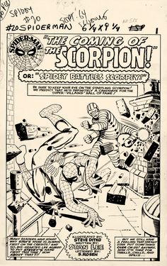 Splash Page From The Amazing Spider-Man #20 by Steve Ditko
