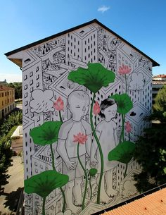 Gorgeous Street mural Art by Millo