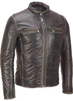 Handmade Black Leather Jacket, men black leather jacket, black leather jacket men with  front pockets