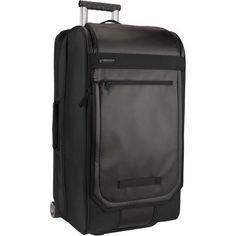 Efficiently organize all of your travel essentials into the Timbuk2 CoPilot Carry On Rolling Bag. This luggage roller has a clamshell design that doubles as a panel loader for ultra-efficient packing and easy access to all of your gear. Aluminum rear posts provide lightweight strength and the expandable, bike-style handle enables easy transport when you're shuffling through busy terminals. Large urethane skate wheels roll smoothly and quietly over bumpy surfaces.