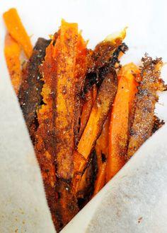 Super crunchy paleo sweet potato fries...