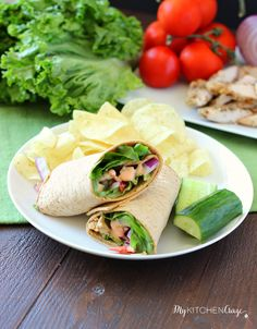 Pepper seasoned grilled chicken smothered in a buffalo ranch sauce and topped with your favorite vegetables. This Buffalo Ranch Chicken Wrap is a breeze to make and is great for lunch or a light dinner. Healthy, quick to make and tastes delicious!