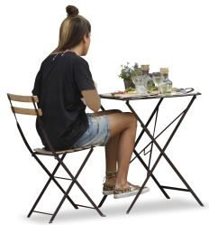 Cutout Teenager Woman Chair Table 0001 Available For Download In XL Size