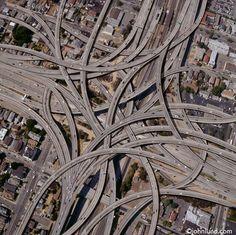 Intricate highway - Dallas, USA