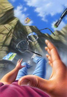 Mixed Media - Plein Air by Jerry LoFaro Animated Love Images, Perspective Art, Eye Art, Photo Art, Art Drawings, Illustration Art, Comic, Fantasy Art, Amazing