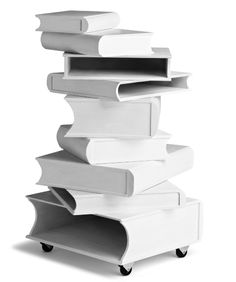 This side table, designed by Josefin Hellström-Olsson, is not only shaped like books, but holds books in the books.