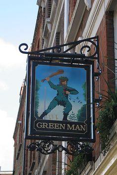 The Green Man, Fitzrovia London Pubs, Green Man, Broadway Shows, Signs, Restaurants, Shop Signs, Restaurant, Sign