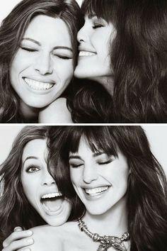 Jessica Biel & Jennifer Garner - Marie Claire