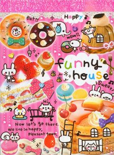 kawaii mini Memo Pad Funny House animals sweets