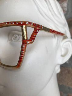 0e7fc014d21 Red Oversize Ted Lapidus sunglasses