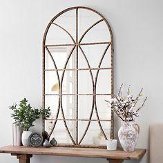 Ella Windowpane Arch Mirror | Kirklands