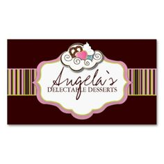 Shop Bakery Business Cards created by colourfuldesigns. Personalize it with photos & text or purchase as is! Bakery Business Cards, Colourful Designs, Bussiness Card, Name Cards, Logo Branding, Stationary, Things To Come, Sweets, Packaging