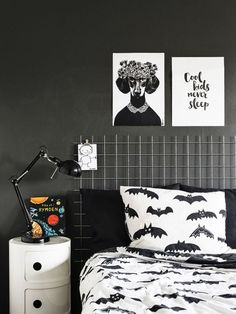 the boo and the boy: monochrome kids room