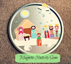 Today's activity is this super cute & simple...   About three weeks ago I came across this adorable free  printable Nativity vi...