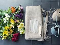 Maak een Alstroemeria gordijn, DIY! Mooiwatbloemendoen.nl