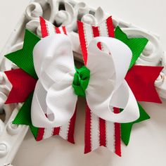Holiday Hair Bow, Christmas Hair Bow, Holiday Hairbow, Christmas Hairbow, Holiday Hair Clip, Christmas Hair Clip