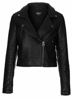 23606f6bf3 Topshop Black Ultimate Faux Jacket Size 4 (S). Tradesy