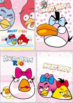 Angry bird cartoon posters PSD