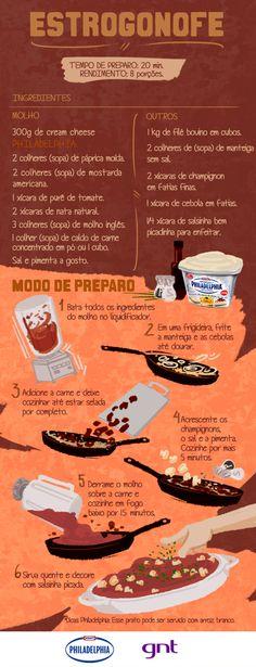 Estrogonofe de carne com cream cheese: anote a receita - Receitas - GNT