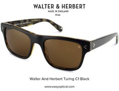 Walter and Herbert Turing Black Sunglasses, England, English, British, United Kingdom