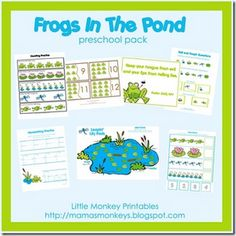 Frogs in pond lesson plan. Design ideas