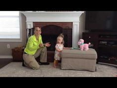 I am producing this video series with my co-instructor, Myla Sunshine, who is a beautiful girl who has low tone and Down syndrome. Physical Therapy Exercises, Pediatric Physical Therapy, Neck Strengthening, Baby Yoga, Baby Workout, Leg Exercises, Gross Motor Activities, Wheels On The Bus, Cerebral Palsy