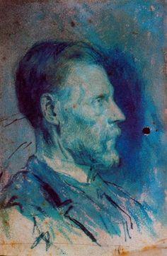 Pablo Picasso. Portrait du pere de l`artiste2. 1896 year