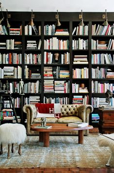 so many books in such a lovely space!