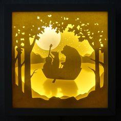 """Lichtbox """"Fuchs & Bär"""" von paper heart auf DaWanda.com"""