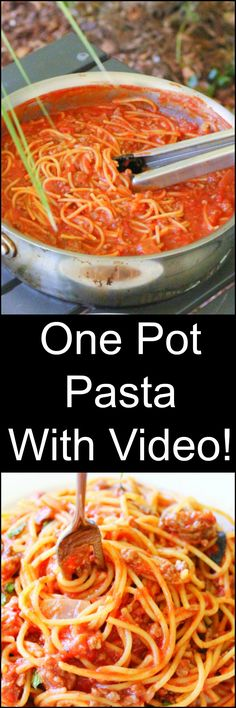Hate doing dishes? You'll love this One Pot Pasta. It's such an easy camping meal! VIDEO TOO!