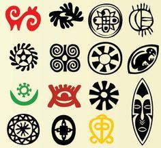 Elementos tribales africanos en vectores para descargar | Interlinkeo