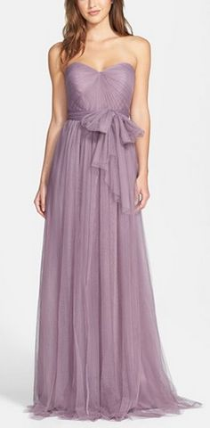 lovely lavender bridesmaid dress