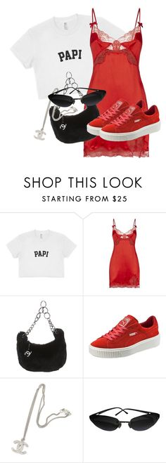 """""""Untitled #3677"""" by xirix ❤ liked on Polyvore featuring Agent Provocateur, Chanel and Puma"""