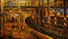 New York Subway Station, Edith Kramer (1994)    At Spring Street Station on the C