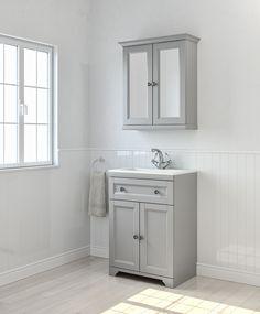 Cooke & Lewis Chadleigh Matt Light grey Vanity unit with basin & mirror cabinet Grey Vanity Unit, Basin Vanity Unit, Bathroom Vanity Units, Bathroom Mirror Cabinet, Mirror Cabinets, Vanity Sink, Diy Vanity Mirror, Bathroom Mirror Lights, Light Gray Cabinets