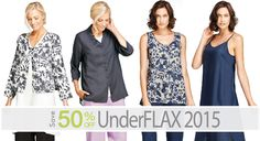 UnderFLAX 2015 on SALE! Thrifty Thursday Deal for February 23, 2017: Save 50% Off on UnderFLAX 2015. UnderFLAX 2015 is a softened linen that feels amazing and looks great. It's perfect for nightwear or daywear. UnderFLAX 2015 is available in solid colors and two floral prints. Floral prints are more expensive. Quantities are very limited, so shop our Thrifty Thursday Deal at www.fgclothing.co/thrifty-thursdays/