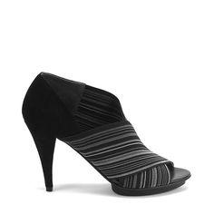 Fold Sandal Deluxe Dark Fog Elastic + Suede $144