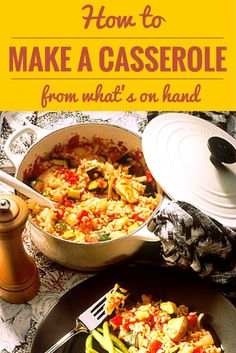 If you have small amounts of leftovers and would like to mix them together into some type of casserole, try this recipe. Turn leftovers into favorite family foods!