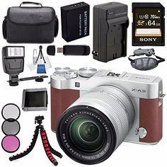 Fujifilm X-A3 Digital Camera w/ 16-50mm Lens (Brown) 1653...