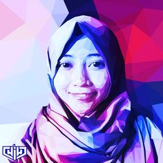 @uswaarumfot // #lowpoly #lowpolylook #lowpolyartwork #polyart #polygonal #featureartwork #artworktoday #art #artwork #digitalart #portrait #popart #design #vector #vectorart #hijab #desain #coreldraw #purple #theme #illustrator #illustration #ilustrasi #smile #happy