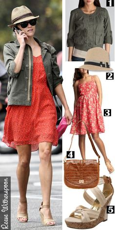 Get Reese Witherspoon's star celebrity style fashion for less on a budget.