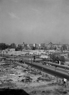 1953 Ernst-Reuter-Platz.Hardenbergstrasse,Strasse des 17.Juni,Marchstrasse,Berlinerstrasse,von der Schiller Schule aus gesehen