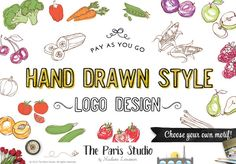 Hand Drawn Style Logo Design: Pay As You Go