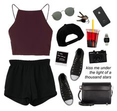 """""""Kiss Me Under The Light Of A Thousand Stars"""" by shoftie ❤ liked on Polyvore featuring Retrò, Converse, Ray-Ban, Alexander Wang, Topshop, O'Neill, Casio, Holga and Incase"""