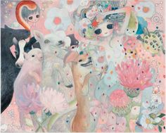 Aya Takano is one of those aesthetes who make the Contemporary Art as accessible as it enigmatic. The artist has settled in an open breach between noble Art and popular creation Art Inspo, Kunst Inspo, Art And Illustration, Pretty Art, Cute Art, Aya Takano, Ancient Egyptian Art, Ancient Aliens, Ancient Greece