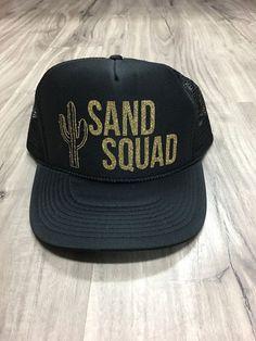 Sand Squad Trucker Hat Mesh Camping Desert Riding by Skippitidoo