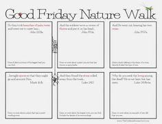 The Unlikely Homeschool: Good Friday Nature Walk {FREE Printable}