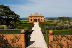 Flinders, Victoria. Paul Bangay is one of Australia's most high profile landscape designers.