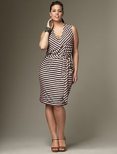 Talbot's Striped Adriana dress, $134.00, love that it is loose but not hanging around neck or underarms